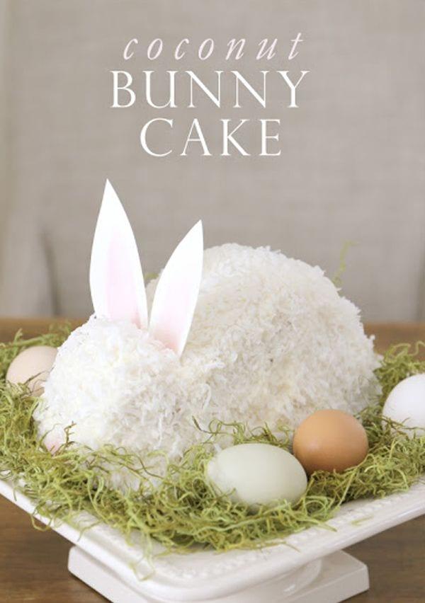 Tartas de Pascua con forma de conejo