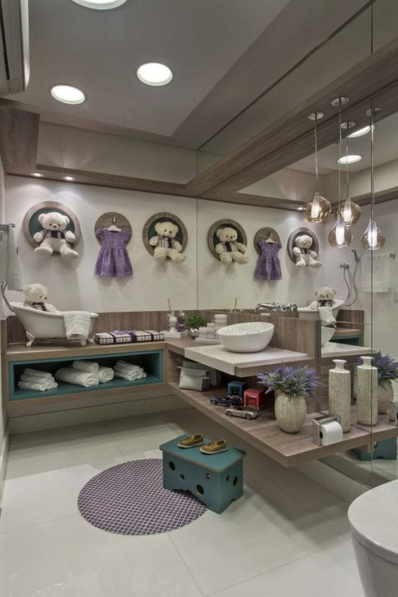 Decoración baños para bebés