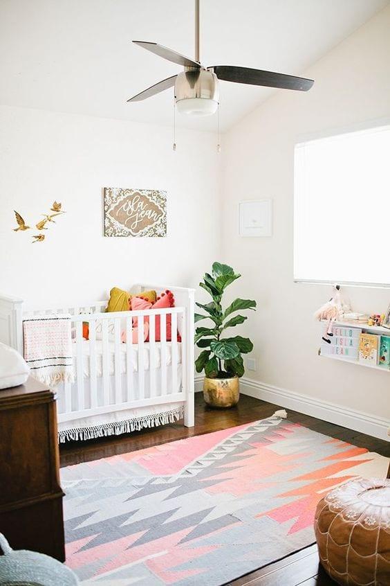 habitación bebé étnica