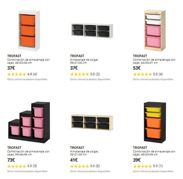 Ikea Trofast habitaciones infantiles