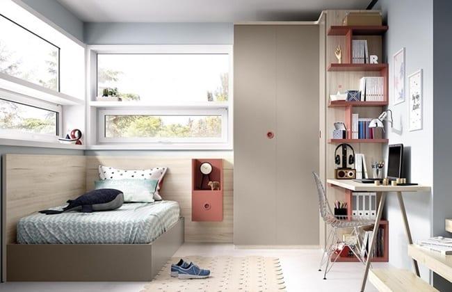 Regla de los tres espacios habitaciones juveniles