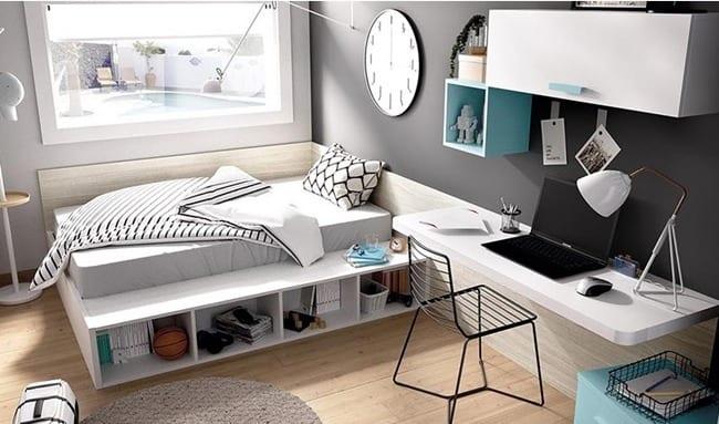 Regla tres espacios habitaciones juveniles