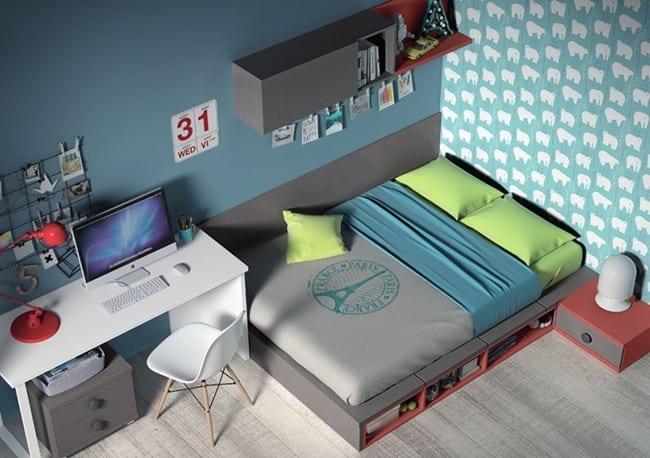 Separar ambientes habitaciones juveniles