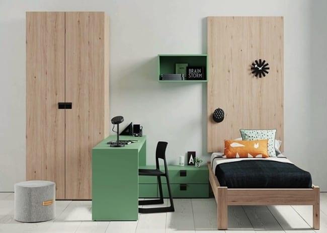 Zona de estudio en dormitorios juveniles