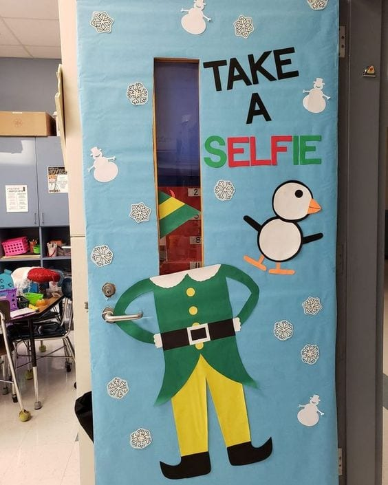 puertas navidad aula