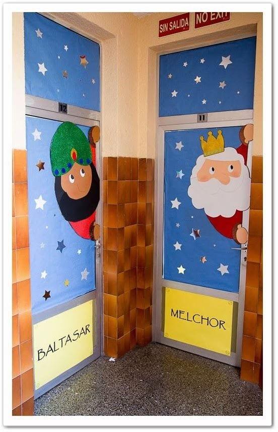 puertas navidad colegio