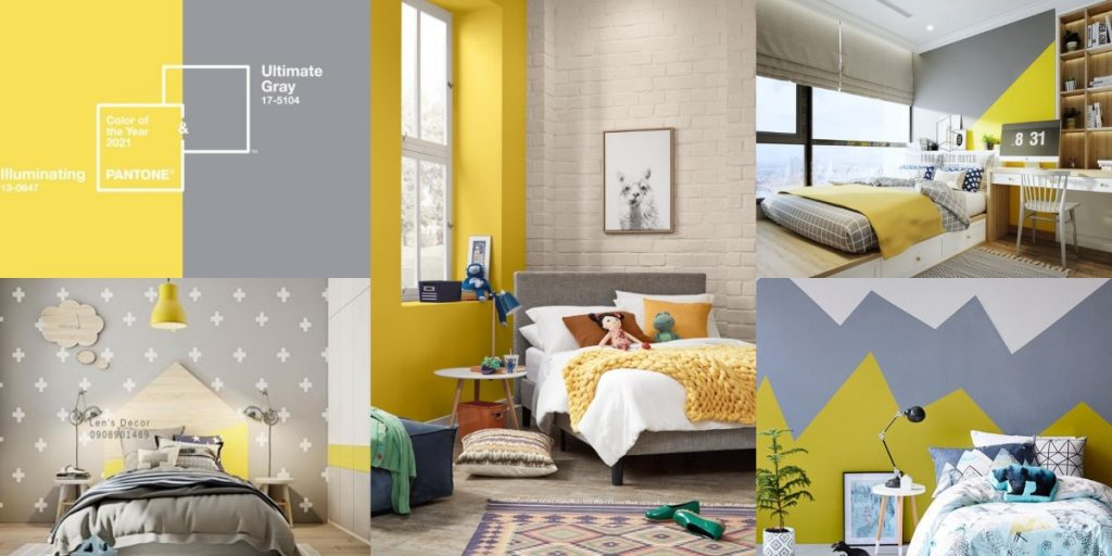 Pantone en Decoración infantil 2021Ultimate Gray + Illuminating