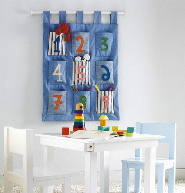 Organizador bolsillos infantil DIY