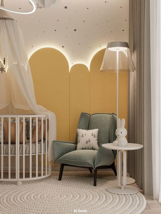 Habitación de bebé de género neutro