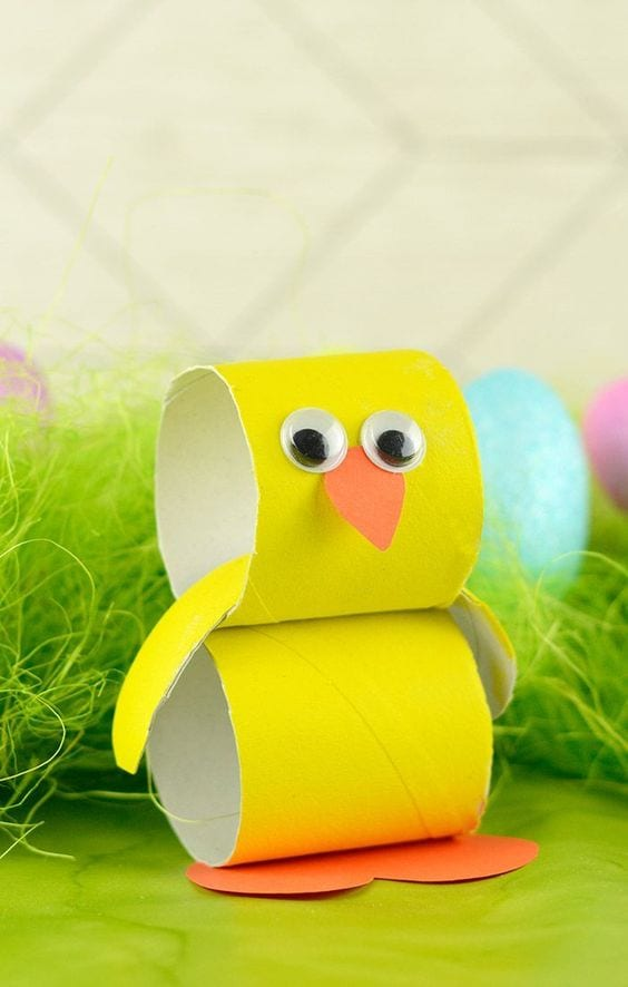 Manualidades pascua rollos papel