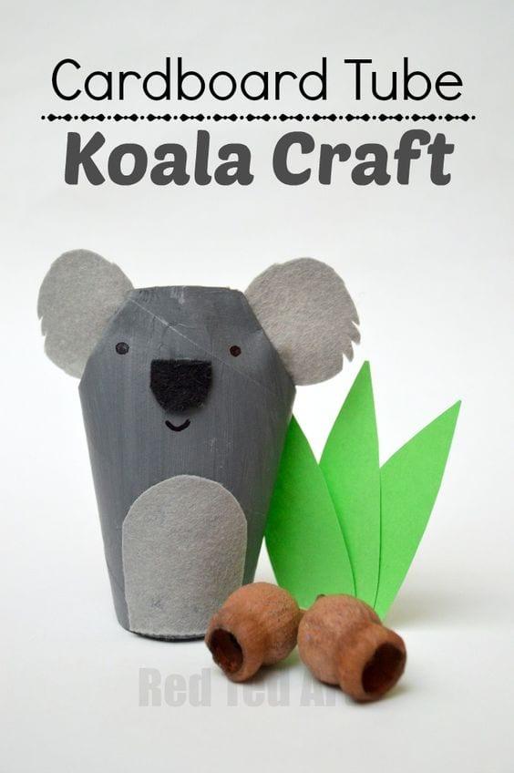 Animales con rollos de cartón