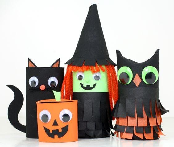 Manualidades Halloween con rollos