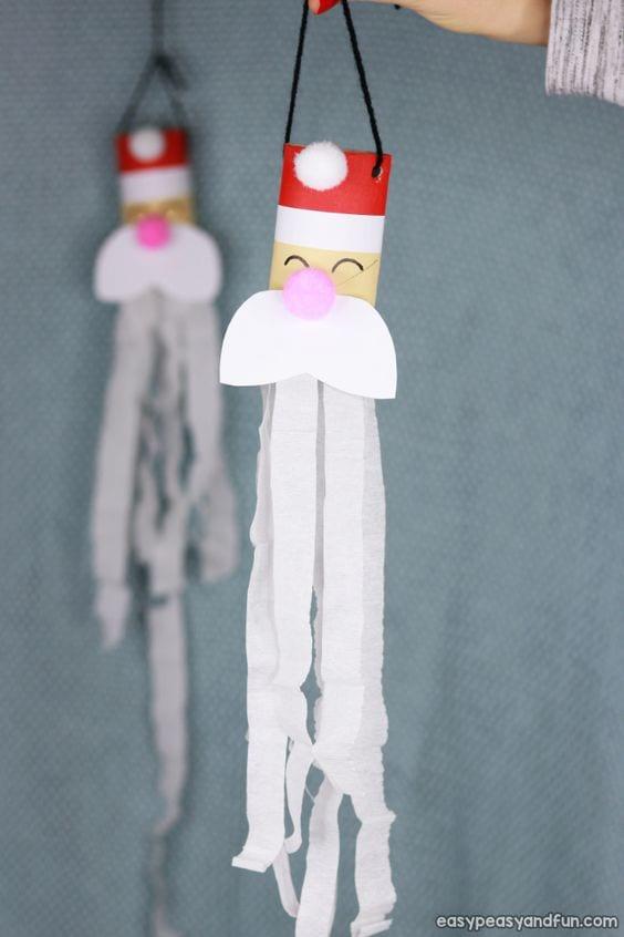 Manualidades con rollos de papel Navidad