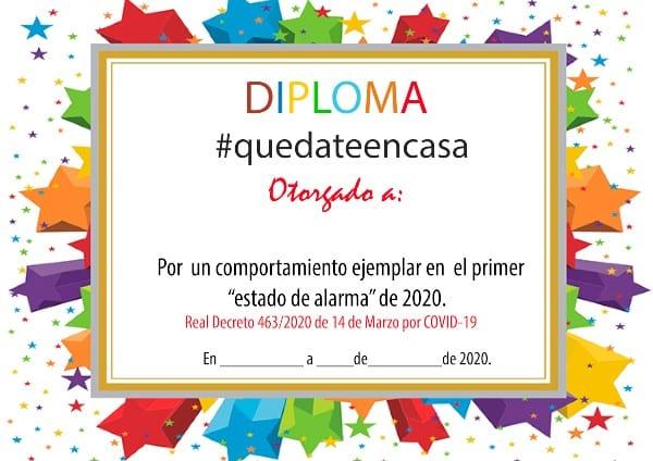 Diploma cuarentena niños