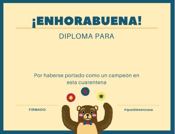 Diploma coronavirus