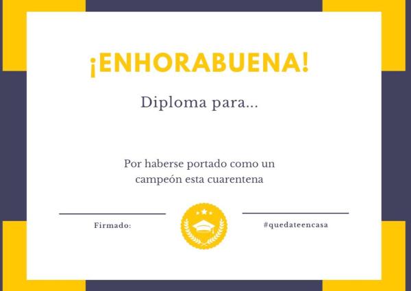 Diploma cuarentena
