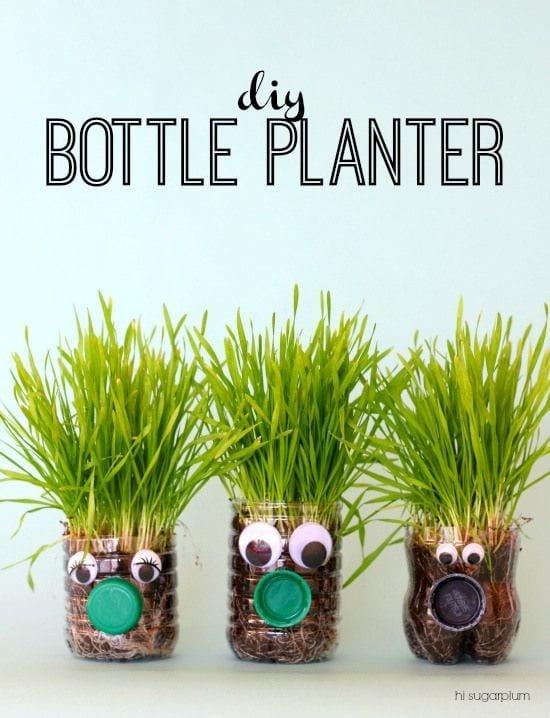 Manualidades infantiles con botellas recicladas