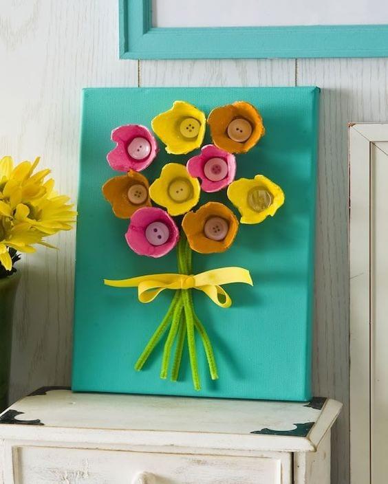 Manualidades de primavera con material reciclado