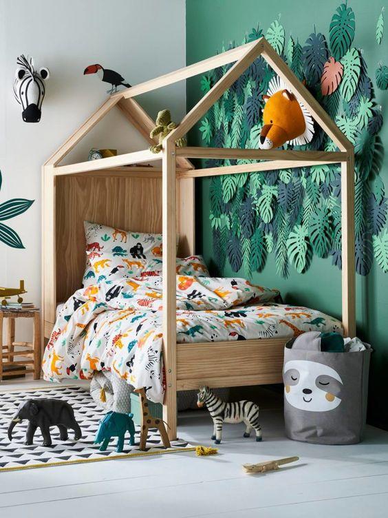 Cama casita para niños tendencia