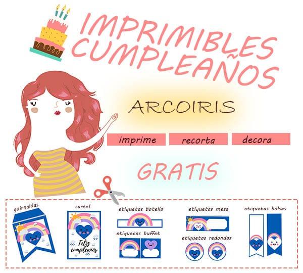 Fiesta Arcoiris imprimible gratis