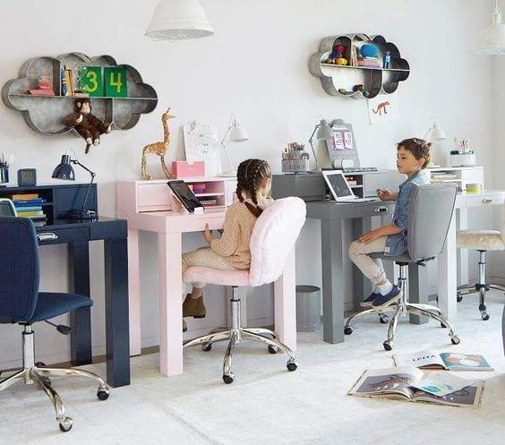 Preparar un espacio de estudio para los niños