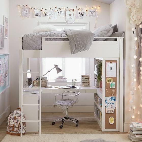 Zona estudio bajo cama