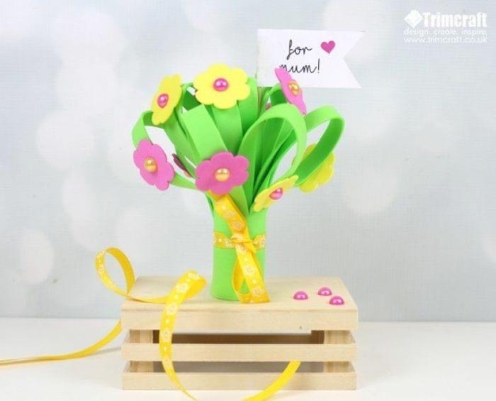 Manualidades ramos de flores goma eva