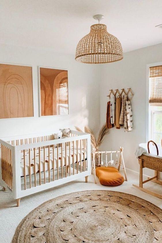 Boho habitación bebé
