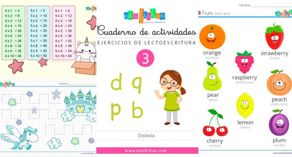 Fichas educativas para imprimir gratis