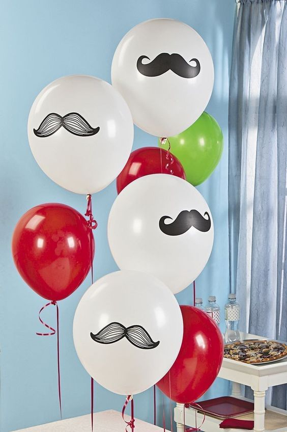 Bigotes Día de Padre ideas para decorar