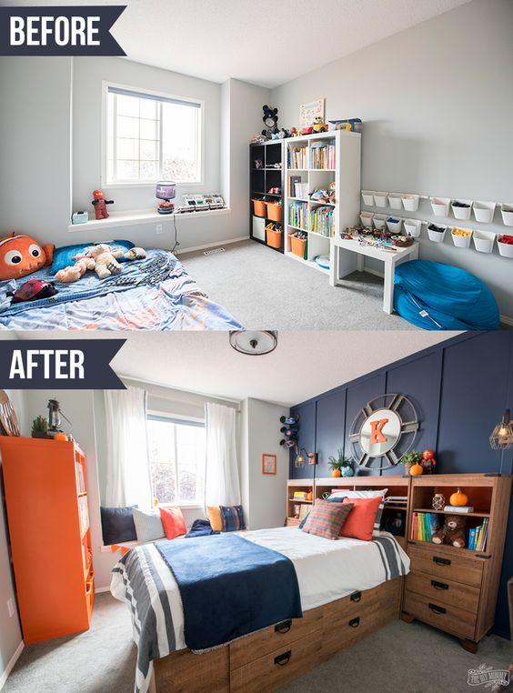 Habitación infantil antes y después