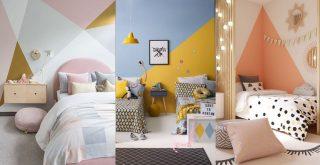Paredes geométricas habitaciones infantiles, juveniles, bebés, niños,